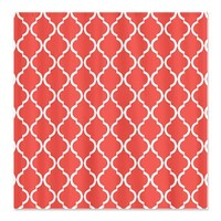 Coral Pink Moroccan Lattice Shower Curtain> Coral Pink Moroccan Lattice> Cierra's Pattern Decor and Gifts
