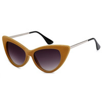 Velvet Cat Eye Sunglasses Cream