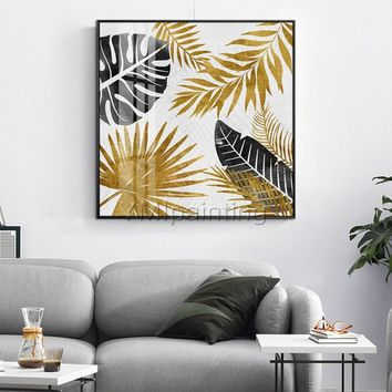 Original art modern Abstract acrylic paintings on canvas Gold leaf painting Wall pictures cuadros abstractos hand painted impasto home decor