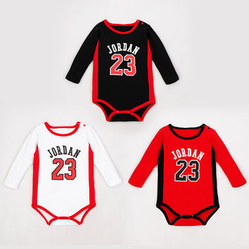 3 Colors New Born Baby Clothes Costume Kids Jordan 2016 Neonato Ensemble Vetement Bebe Jordan For Boys Baby Girls Rompers Summer
