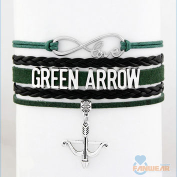 FREE Green Arrow Infinity Love Bracelet