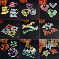 New 9 style Metal Cutting Dies Stencils Cut Frame For DIY Scrapbooking Photo Album Paper Card Festival Gift Decorative Craft