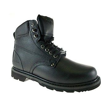 Men's 623 Genuine Leather Steel Toe Construction Safety Work Boots