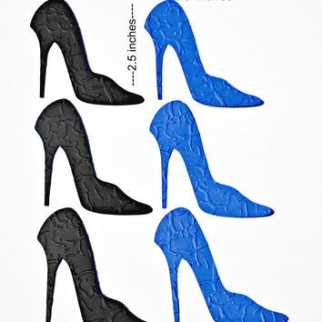 High Heel Die Cuts Embossed Stiletto Shoe Die Cut Shoes Custom Colors