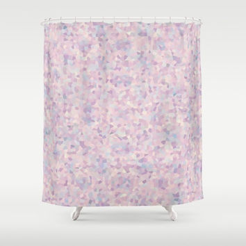 "Shower Curtain - 'Romantic Pastels' - 71"" by 74"" Home, Bathroom, Bath, Dorm, Girl, Christmas, Decor,  Decoration, Floral, Designer, Romantic"