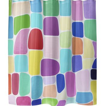 COLOR GALORE Shower Curtain By Lokiloni