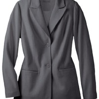 Jessica London Women's Plus Size Wool Blazer With Notch Collar