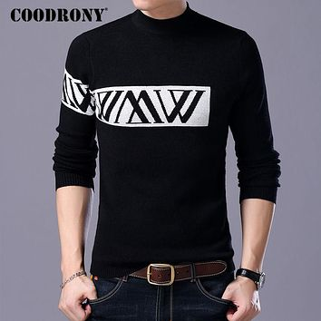 Turtleneck Sweater Men Knitted Wool Sweaters Winter Thick Slim Fit Pull Home Christmas Cashmere Pullover Men