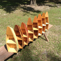 "20"" Handcrafted wooden Boat Shelves for Home Decor #boatshleves#canoeshelf#bookshelf"