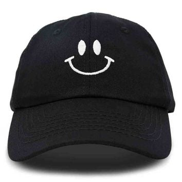 d7d9fc51492415 DALIX Smiley Face Baseball Cap Smiling Happy Dad Hat Men Women T
