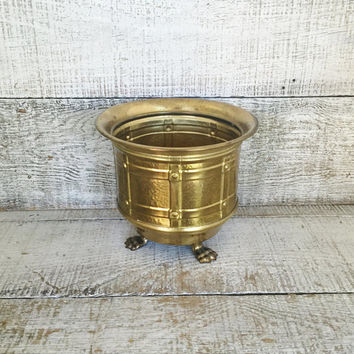 Brass Planter Vintage Brass Bowl Vintage Plant Pot Vintage Garden Container Brass Flower Pot Brass Indoor Planter Mid Century Planter