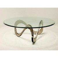 DESIGNLUSH INFINITY ACRYLIC COFFEE TABLE