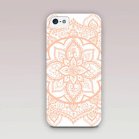 Nude Lotus Mandala Phone Case For - iPhone 6 Case - iPhone 5 Case - iPhone 4 Case - Samsung S4 Case - iPhone 5C