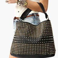 Totally Studded Bag - Black