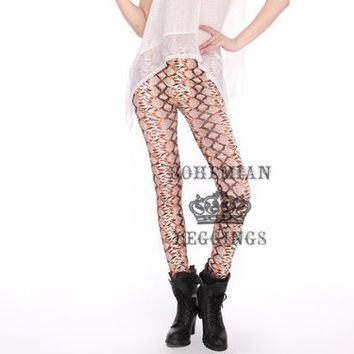 Autumn Mid Waist Fish Scale Leggings