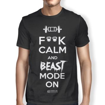 """F**k Calm And Beast Mode On"" Men's Tees & Tanks"