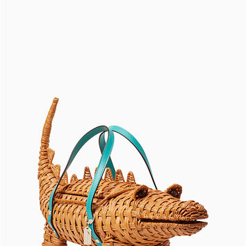 swamped 3d wicker alligator bag | Kate Spade New York