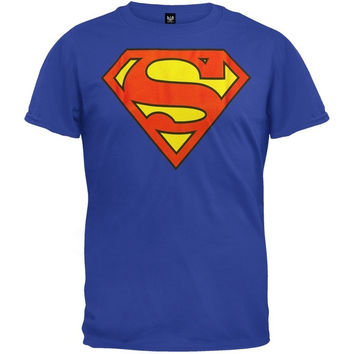 Superman - Superman Shield Logo Blue T-Shirt = 1946649220