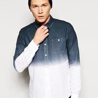 ASOS | ASOS Oxford Shirt In Long Sleeve With Dip Dye at ASOS
