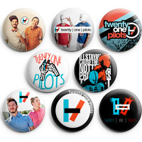 Twenty One Pilots Pinback Buttons Pins Badges 1.25 inch 8Pcs New