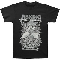 Asking Alexandria Men's  Skull Stack Slim Fit T-shirt Black