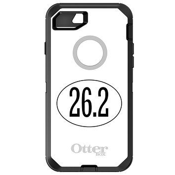 DistinctInk™ OtterBox Defender Series Case for Apple iPhone / Samsung Galaxy / Google Pixel - White 26.2 Oval Marathon Run