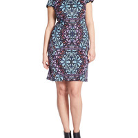 Brands | Dresses | Plus Cap-Sleeve Scuba Knit Sheath Dress | Lord and Taylor