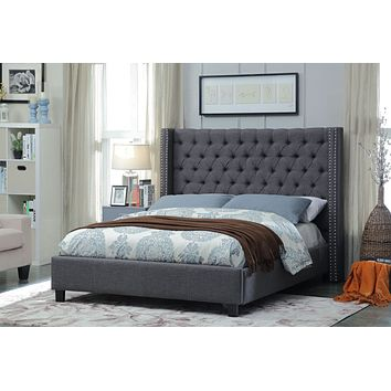 Ashton Grey Linen King Bed