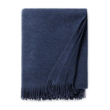 Vimmo Navy Wool Throw