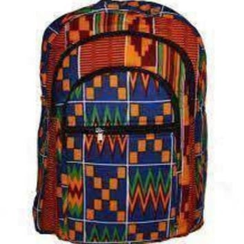 Cocadeau Kente Cloth Backpack