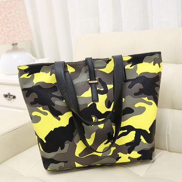 Stylish Camouflage Tote Bag Shoulder Bags [6581524935]