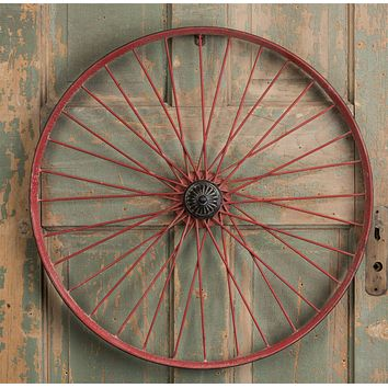 Vintage Metal Bicycle Wheel Rim | 22-3/4-in