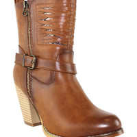 Cognac South Street Ankle Boot
