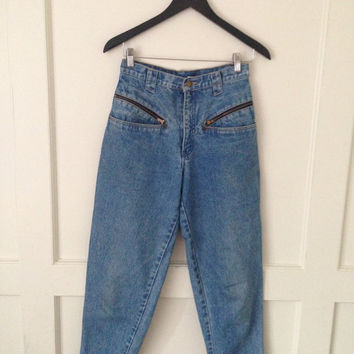 90's mom jeans with zipper pockets