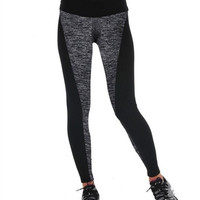 Women''s New Fashion Black And Gray Paneled Plus Slimming Pants Leggings Running/Yoga/Sport/Sleep Gym = 1932735556