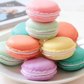 Kawaii Color Choice - Mini 4*1.5CM Macaron Ice Cream Plastic Cosmetic bag  Container Holder Organizer Mini Cosmetic Box