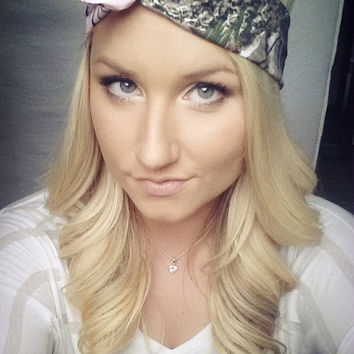 PINK and HUNTER Realtree Camo Dolly Bow headband