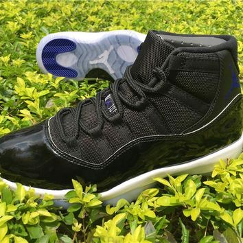 """Air Jordan Retro 11 Space Jam Basketball Shoes 11s For Men Women With Shoes Box + Number """"45"""" """"23"""" Athletic Sport Sneakers Size 36-47"""