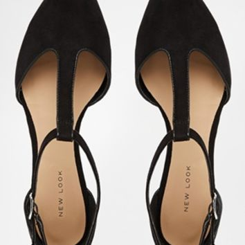 New Look Josie T Bar Flat Shoes