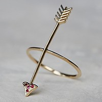 Ark + Arrows Womens Always Forward Ruby Ring