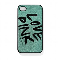 victorias secret love pink teal sparkle iPhone case :)