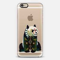 love heart panda transparent iPhone 6s case by Sharon Turner | Casetify