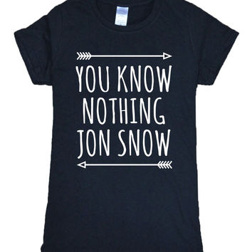 Hot Sale Game of Thrones t-shirt women 2017 summer YOU KNOW NOTHING JON SNOW Print t shirt 100% cotton high quality tops tees