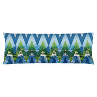 Chevron Mountains Majesty Body Pillow