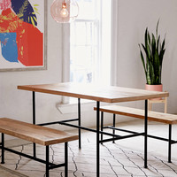 Kendall Pipe Dining Table | Urban Outfitters