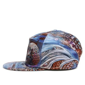 Geodesic Domed Skull - 3-D Cute, Graphic, Cool Baseball Cap - Sports & Leisure Hat
