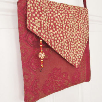 Cross Body Bag - Boho Paisley Brocade