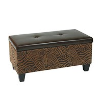Avenue Six DTR2036-W10 Detour Wild Espresso Eco Leather Storage Bench