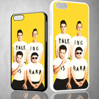 Walk The Moon Talking is Hard Cover X0386 iPhone 4S 5S 5C 6 6Plus, iPod 4 5, LG G2 G3, Sony Z2 Case