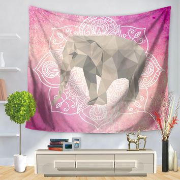 CAMMITEVER Elephant Wall Hanging Indian Mandala Tapestry Bohemian Bedspread Wall Art Dorm Cover Yoga Mat Beach Towel Home Room